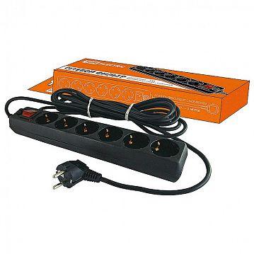 SQ1304-0013 Сетевой фильтр TDM СФ-06В 6-местный, с выключателем, 5м, с заземлением, купить оптом и в розницу, отзывы, фото и характеристики