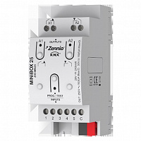 ZIO-MN25 MINiBOX 25. KNX multifunction actuator - 2 outputs 16A / 5 inputs A/D